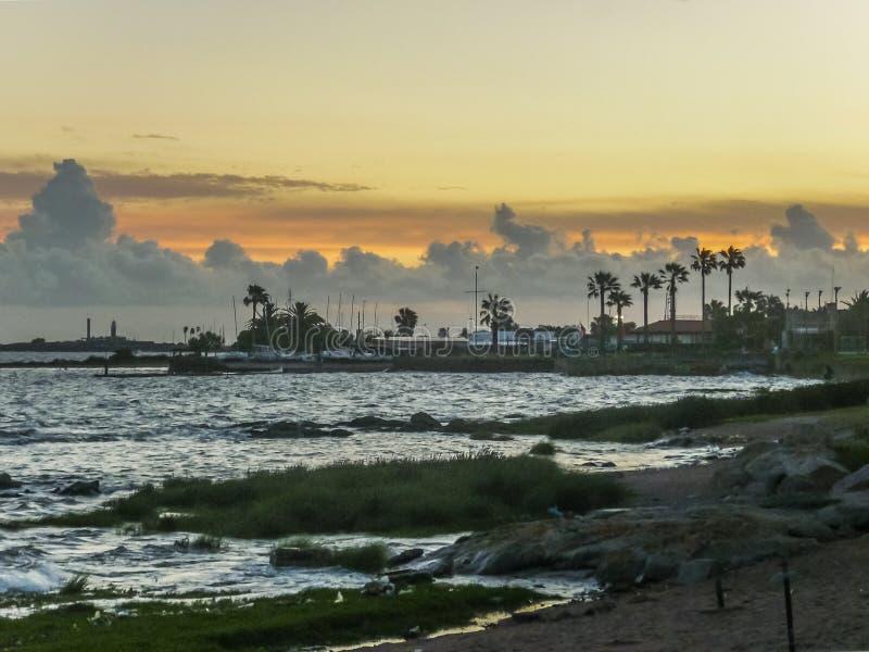 Landskapkust av Montevideo fotografering för bildbyråer