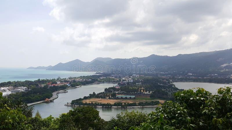 Landskapsikt av den Samui ön fotografering för bildbyråer