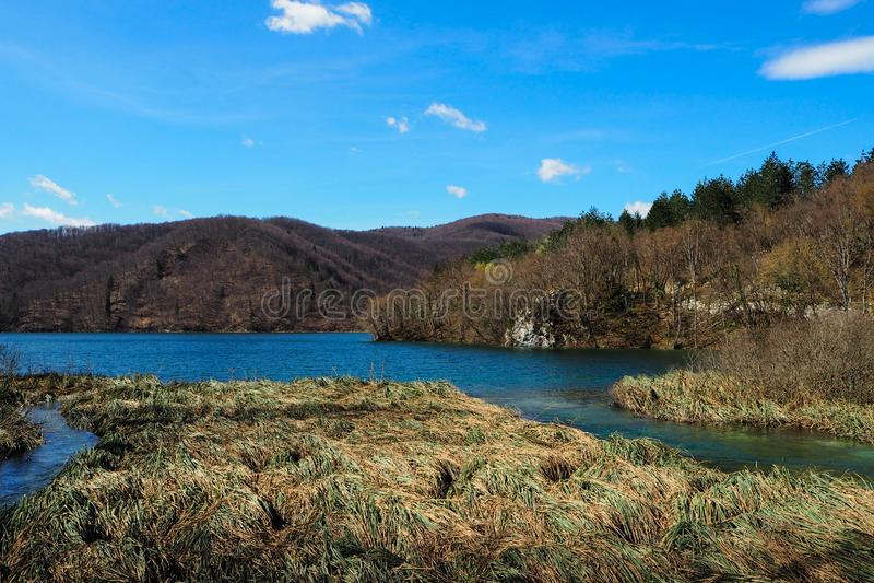 Landskapsikt av Plitvice sjönationalparken royaltyfri foto