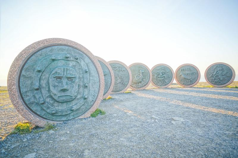 Landskapsikt i norr udde, Nordkapp Norge royaltyfri fotografi