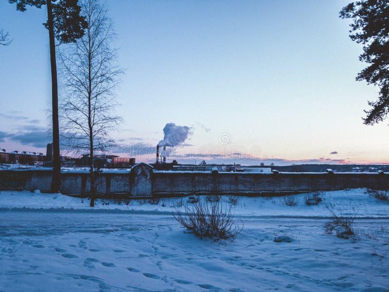 Landskapsikt i Vilnius arkivfoton