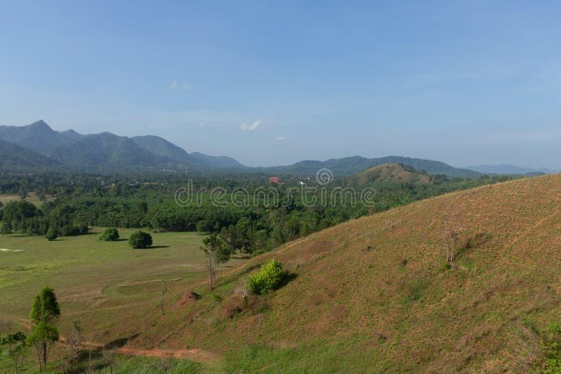 Landskapsynvinkel av gräsberget royaltyfria bilder