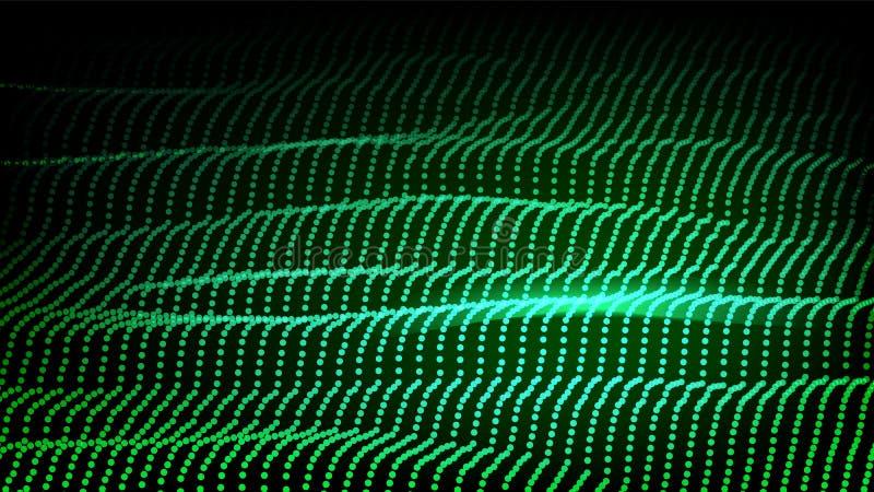 Landskapvektor Cyberbegrepp futuristic diagram Lättnadsstruktur Energiutrymme Topografikod Samlingsdesign 3d royaltyfri illustrationer