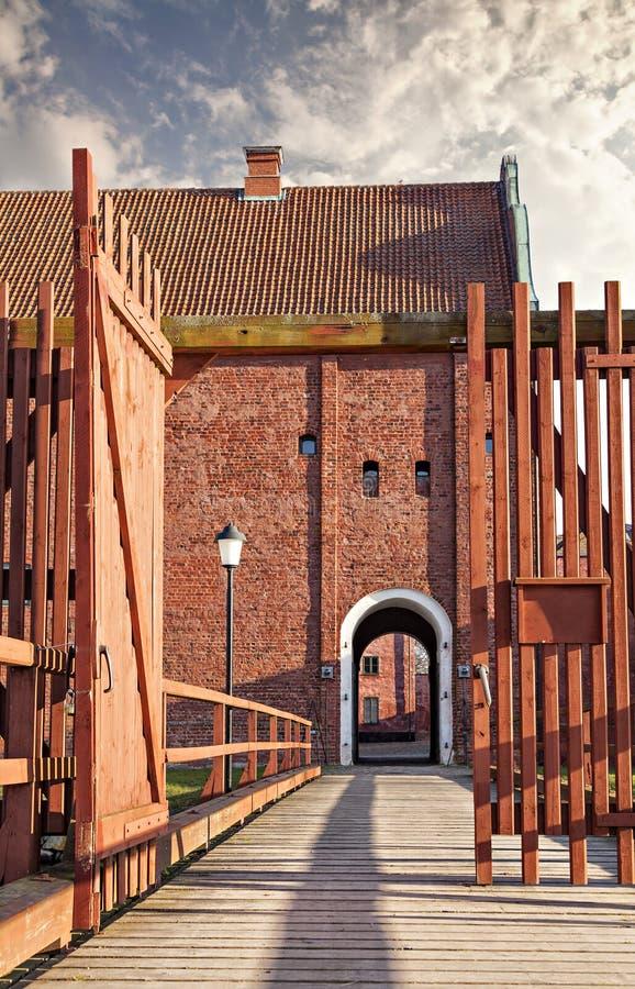 Landskrona cytadela w Sweden fotografia royalty free