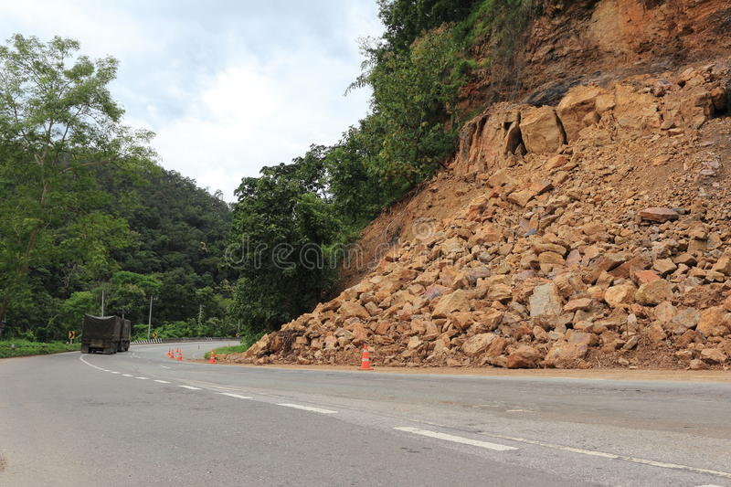Download Landslide stock photo. Image of danger, landslide, road - 26671072
