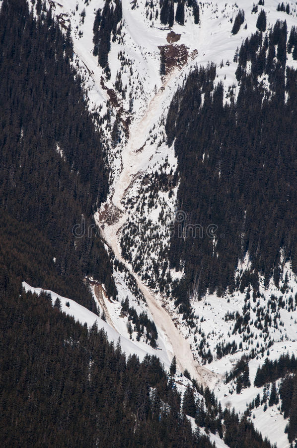 Landslide And Avalanches Royalty Free Stock Images