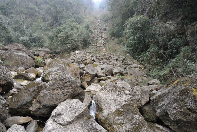 Landslide Destroy Stock Photos
