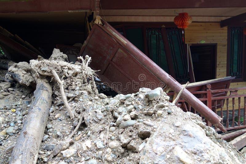 Download Landslide destroy stock photo. Image of built, exterior - 33638304