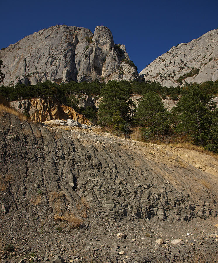 Download Landslide In The Mountains Royalty Free Stock Photos - Image: 21429738