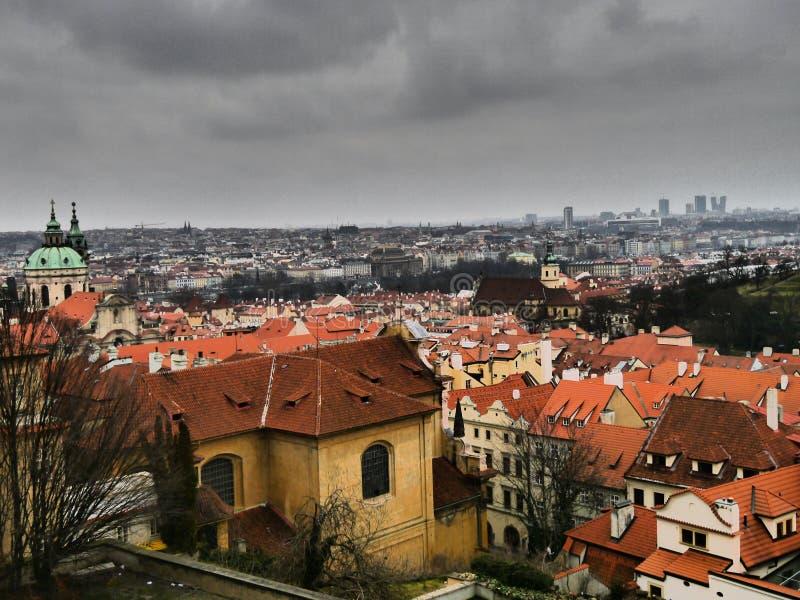 Landspace dal castello di Praga fotografia stock