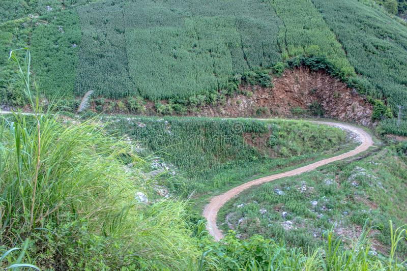 Landspace de Muong La, Son La, Viet Nam imagen de archivo libre de regalías