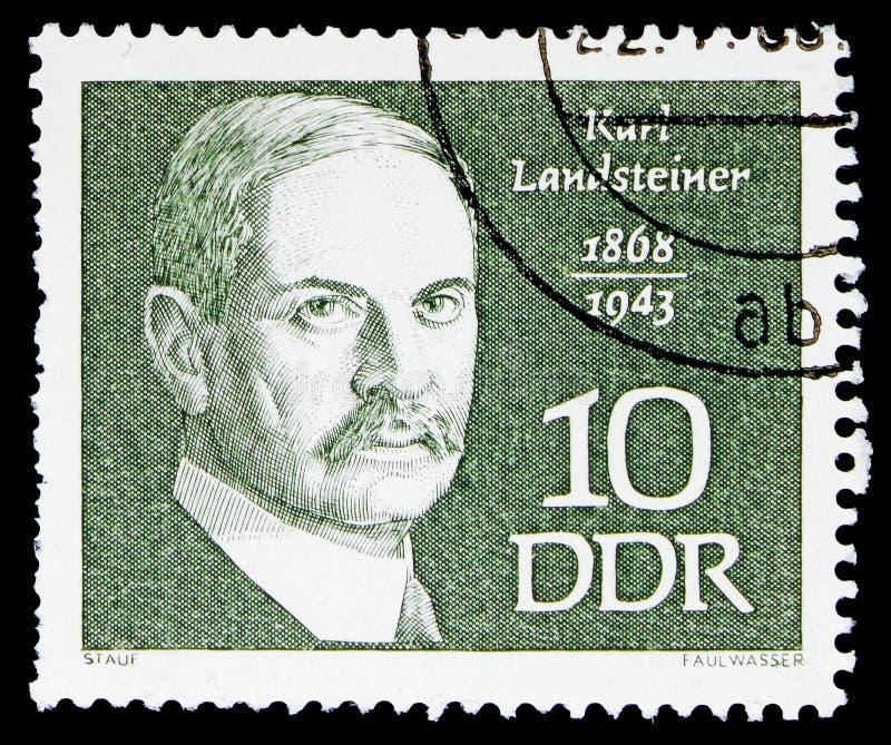Landsteiner Karl, berömd folkserie, circa 1968 arkivbild