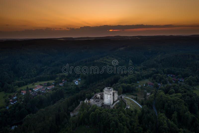 Landstejn Castle in south bohemia in Czech Republic. Landstejn Castle is a 13th-century castle district of South Bohemia, Czech Republic. The earliest written royalty free stock photos