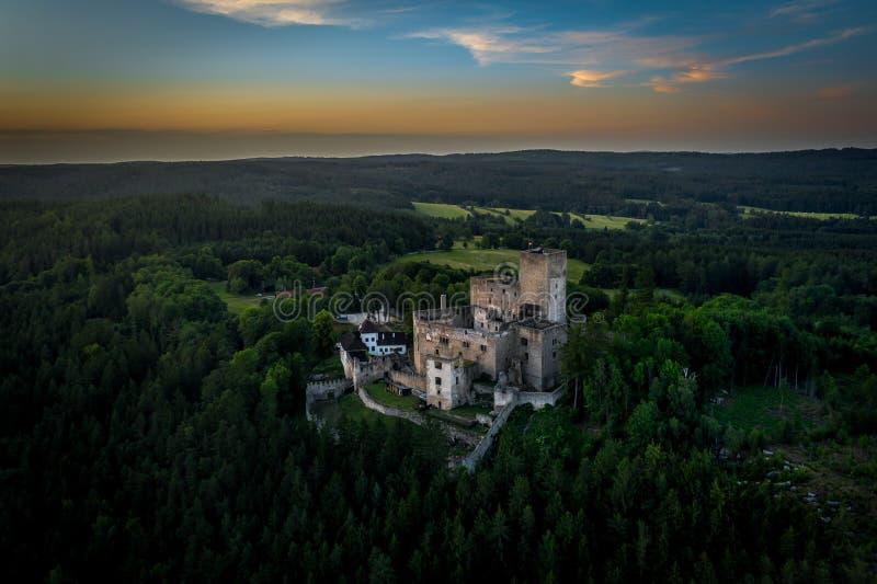 Landstejn Castle in south bohemia in Czech Republic. Landstejn Castle is a 13th-century castle district of South Bohemia, Czech Republic. The earliest written royalty free stock image