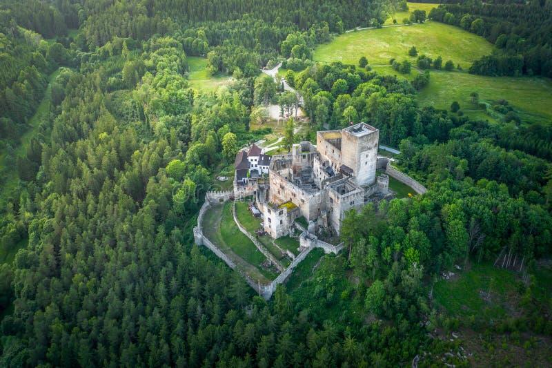 Landstejn Castle in south bohemia in Czech Republic. Landstejn Castle is a 13th-century castle district of South Bohemia, Czech Republic. The earliest written stock images