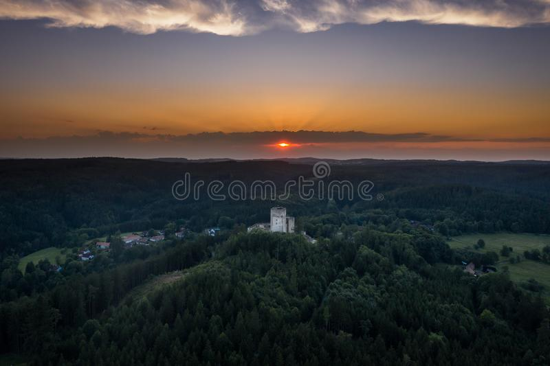Landstejn Castle in south bohemia in Czech Republic. Landstejn Castle is a 13th-century castle district of South Bohemia, Czech Republic. The earliest written stock photos