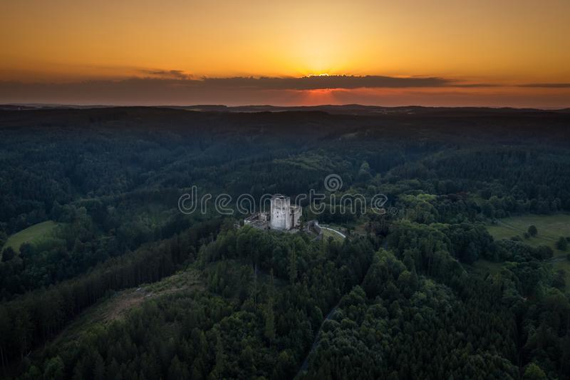 Landstejn Castle in south bohemia in Czech Republic. Landstejn Castle is a 13th-century castle district of South Bohemia, Czech Republic. The earliest written stock photography