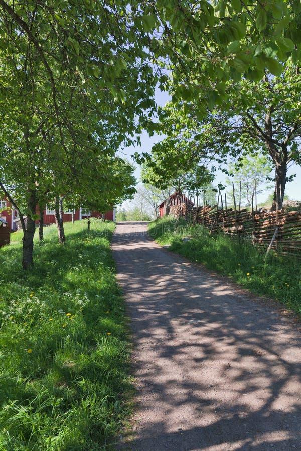 Landstraße stockfoto