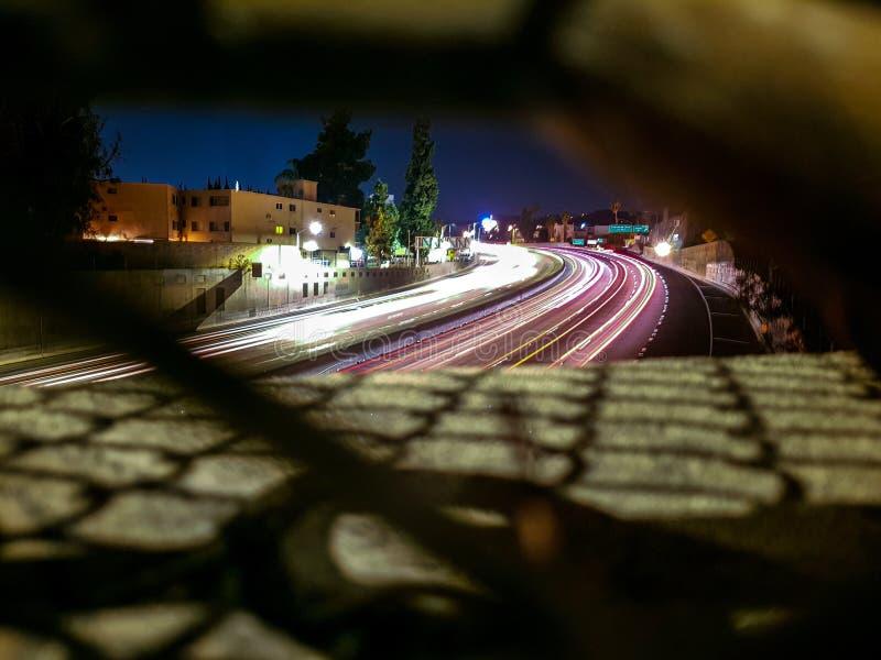 Landstraße Los Angeles stockfotos