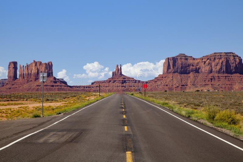 Landstraße US 163, Utah stockbild