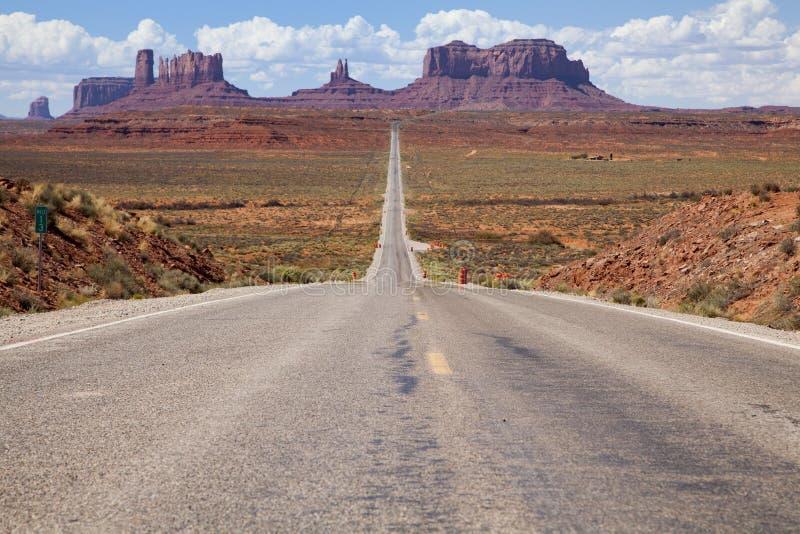 Landstraße US 163, Utah lizenzfreie stockbilder