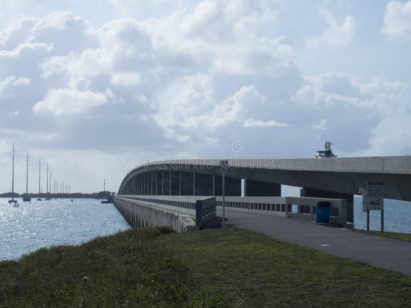 Landstraße US 1 zu Key West lizenzfreies stockbild