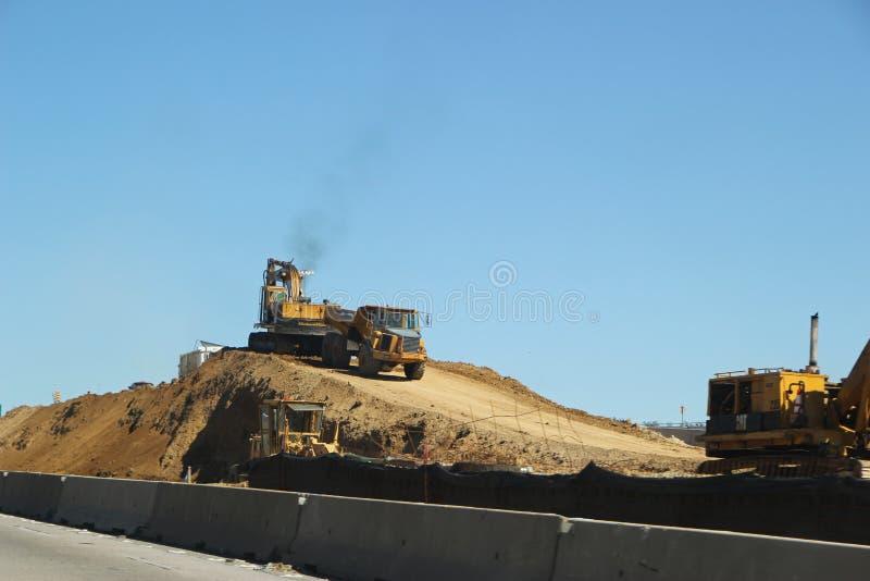 Landstraßen-Bau auf Texas State Highway 26 lizenzfreie stockbilder