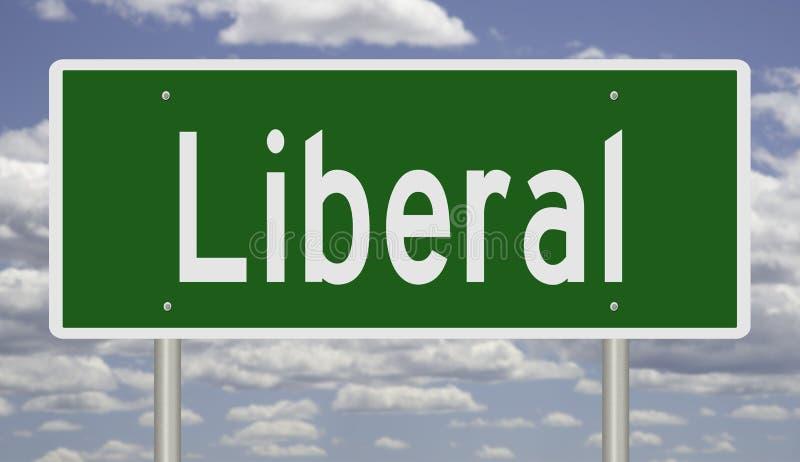 Landstraßenzeichen für Liberalen lizenzfreie stockbilder