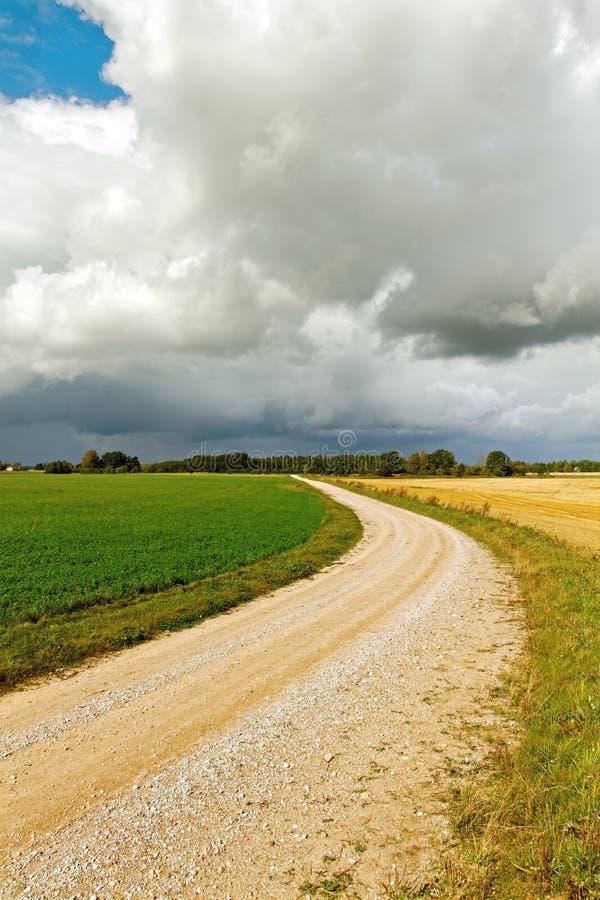 Landsväg. royaltyfri fotografi
