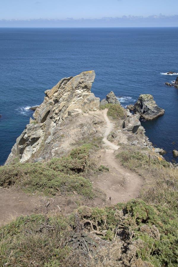 Landtong in Costa Xuncos; Loiba, Galicië royalty-vrije stock afbeelding