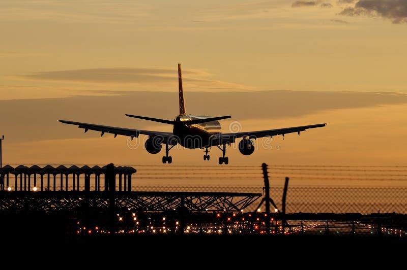Landung lizenzfreie stockbilder