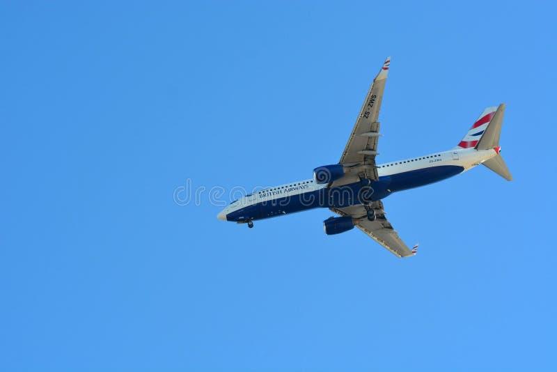 Landung British Airwayss Boing stockbild