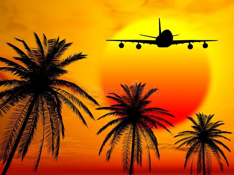 Landung im Paradies stock abbildung