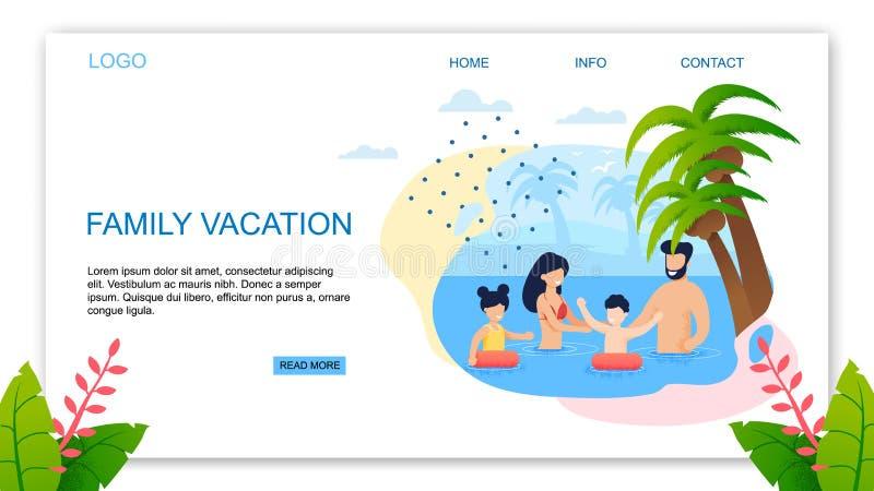 Landungsseite bietet bester Familie tropische Ferien an lizenzfreie abbildung