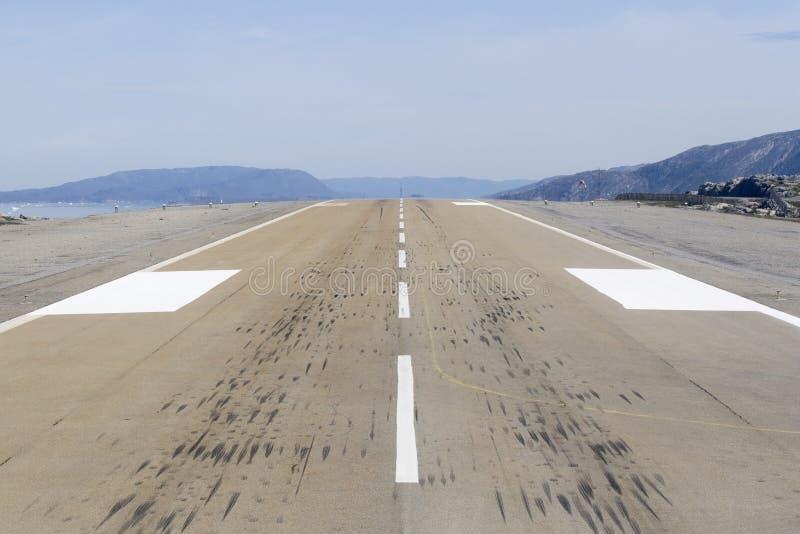 Landungstreifen stockbild