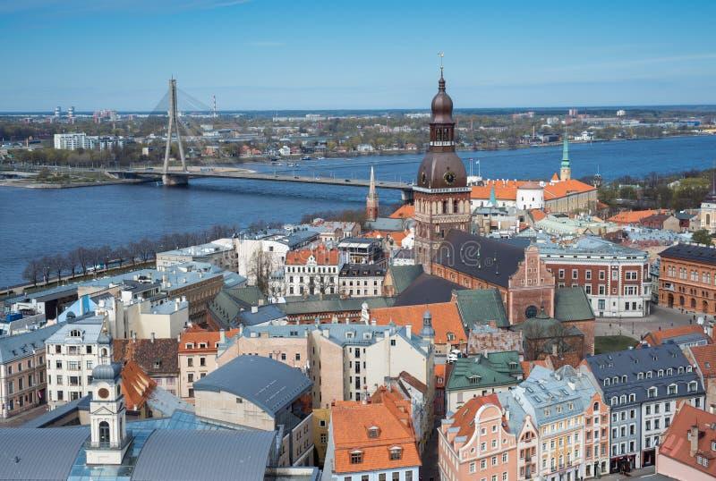 Landview av Riga arkivfoton