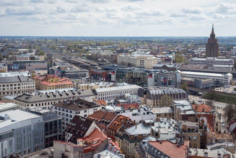 Landview av Riga royaltyfri foto