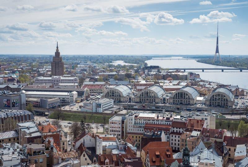 Landview av Riga royaltyfri fotografi