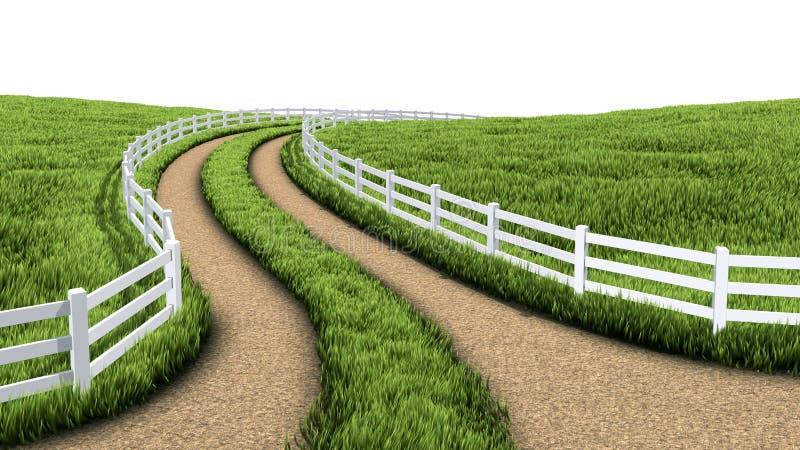 Landweg stock illustratie
