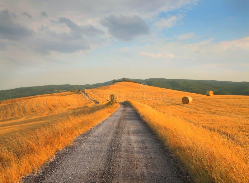 Landweg stock fotografie