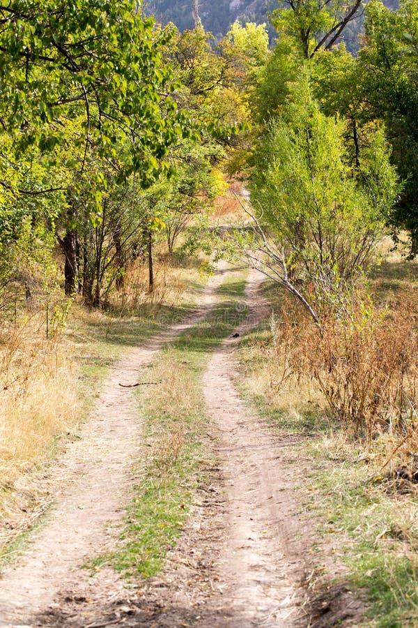 Landweg in aard stock fotografie