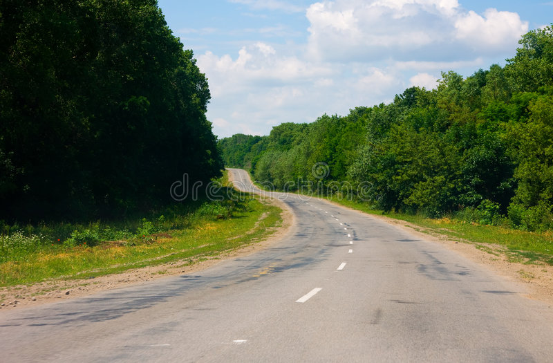 Landweg in de Oekraïne royalty-vrije stock foto's