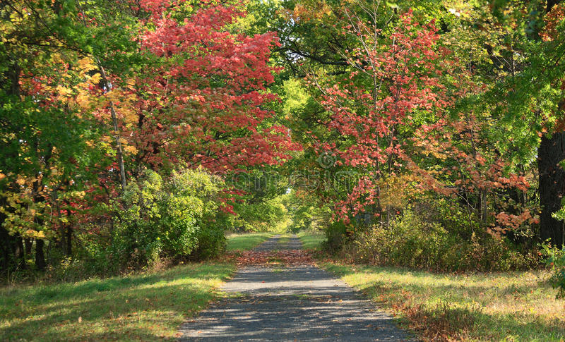 Landweg in Upstate New York royalty-vrije stock fotografie