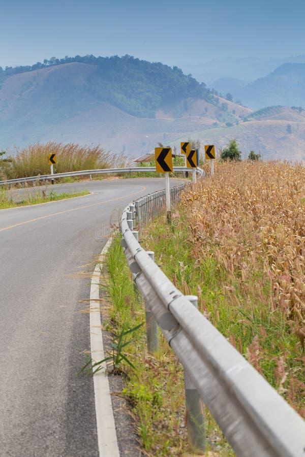 Landwegkant stock foto