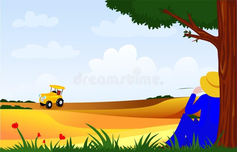 Landwirt stock abbildung