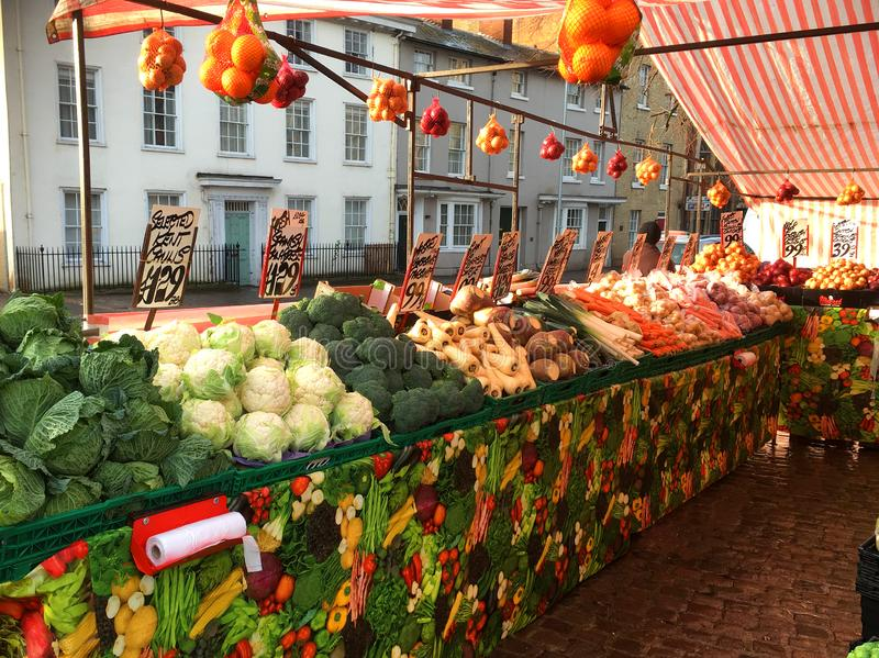 Landwirt-Gemüse-Markt stockfoto