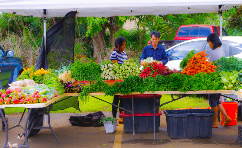 Landwirt ` s Markt in Hawaii lizenzfreie stockfotografie