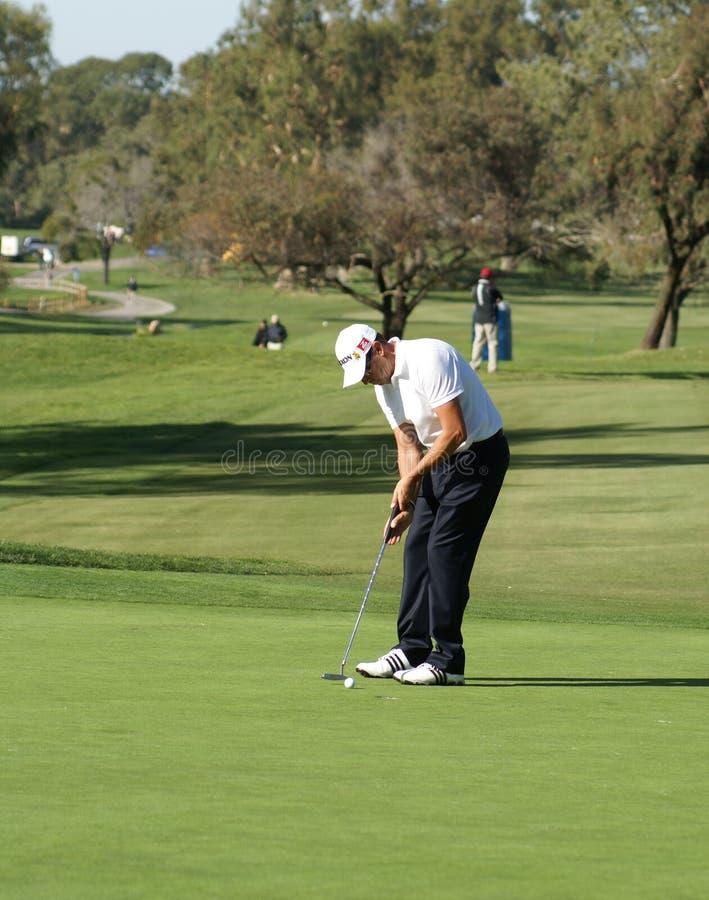 Landwirt-Versicherung des Robert-Allenby Golfspieler-2011 geöffnet stockbilder