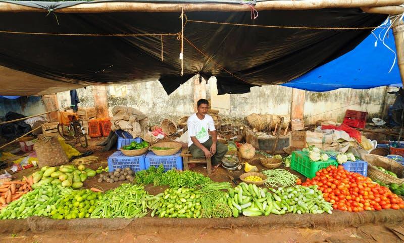 Landwirte vermarkten in Indien lizenzfreies stockbild