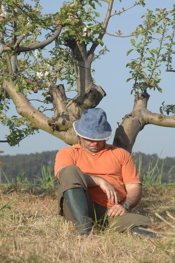 Landwirtfunktion (Schlafen) stockfoto